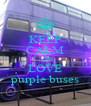 KEEP CALM AND LOVE purple buses - Personalised Poster A4 size