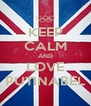 KEEP CALM AND LOVE PUTINABEL - Personalised Poster A4 size