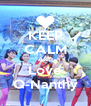 KEEP CALM AND Love Q-Nanthy - Personalised Poster A4 size