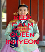KEEP CALM AND LOVE QUEEN INHYEON - Personalised Poster A4 size