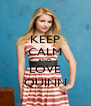 KEEP CALM AND LOVE QUINN - Personalised Poster A4 size