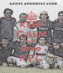 KEEP CALM AND love R.F.C - Personalised Poster A4 size