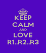 KEEP CALM AND LOVE R1..R2..R3 - Personalised Poster A4 size