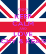 KEEP CALM AND LOVE RACHY & KEASHA - Personalised Poster A4 size