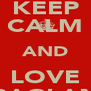 KEEP CALM AND LOVE RAGLAN - Personalised Poster A4 size