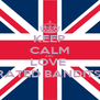 KEEP CALM AND LOVE  RATED BANDITS  - Personalised Poster A4 size