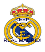 KEEP CALM AND LOVE REAL MADRID! - Personalised Poster A4 size