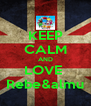 KEEP CALM AND LOVE  Rebe&almu - Personalised Poster A4 size