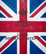KEEP CALM AND Love REMIJUS SITEPU - Personalised Poster A4 size
