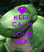 KEEP CALM AND LOVE REX - Personalised Poster A4 size