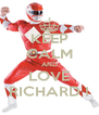 KEEP CALM AND LOVE RICHARD ! - Personalised Poster A4 size