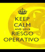 KEEP CALM AND LOVE RIESGO OPERATIVO  - Personalised Poster A4 size