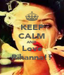 KEEP CALM AND Love Rihanna!! - Personalised Poster A4 size