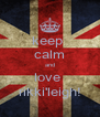 keep  calm and love  rikki'leigh! - Personalised Poster A4 size