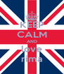 KEEP CALM AND love rima - Personalised Poster A4 size