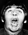 KEEP CALM AND LOVE RINGO - Personalised Poster A4 size