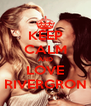 KEEP CALM AND LOVE RIVERGRON - Personalised Poster A4 size