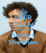 KEEP CALM AND LOVE Robert Sheehan - Personalised Poster A4 size