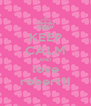 KEEP CALM AND love robert11 - Personalised Poster A4 size