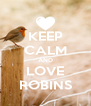 KEEP CALM AND LOVE ROBINS - Personalised Poster A4 size