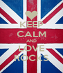 KEEP CALM AND LOVE ROCKS - Personalised Poster A4 size