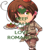 KEEP CALM AND LOVE ROMANO ~ - Personalised Poster A4 size