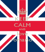 KEEP CALM AND love romario  - Personalised Poster A4 size