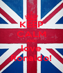 KEEP CALM AND love Ronaldo! - Personalised Poster A4 size