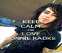 KEEP CALM AND LOVE RONNIE RADKE - Personalised Poster A4 size
