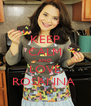 KEEP CALM AND LOVE ROSANNA  - Personalised Poster A4 size