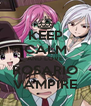 KEEP CALM AND LOVE ROSARIO VAMPIRE - Personalised Poster A4 size