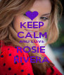 KEEP CALM AND LOVE ROSIE  RIVERA - Personalised Poster A4 size