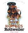 KEEP CALM AND love ROTTIES - Personalised Poster A4 size