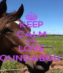 KEEP CALM AND LOVE ROUNDABOUT  - Personalised Poster A4 size