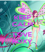 KEEP CALM AND LOVE ROXY - Personalised Poster A4 size