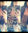 KEEP CALM AND LOVE  ROXY ♥ - Personalised Poster A4 size