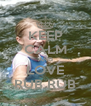 KEEP CALM AND LOVE RUB RUB - Personalised Poster A4 size