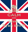 KEEP CALM AND love  Ryan smith - Personalised Poster A4 size