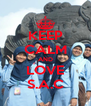 KEEP CALM AND LOVE S.A.C - Personalised Poster A4 size