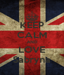 KEEP CALM AND LOVE Sabryna - Personalised Poster A4 size