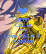 KEEP CALM AND Love SAGA &  KANON - Personalised Poster A4 size