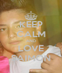 KEEP CALM AND LOVE SAIMON - Personalised Poster A4 size