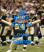 KEEP CALM AND Love  Saints - Personalised Poster A4 size