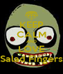 KEEP CALM AND LOVE Salad Fingers - Personalised Poster A4 size