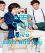 KEEP CALM AND love sam and saj - Personalised Poster A4 size