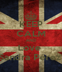 KEEP CALM AND Love  Sandra Pérez  - Personalised Poster A4 size