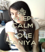 KEEP CALM AND LOVE SANIYA - Personalised Poster A4 size