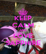 KEEP CALM AND LOVE SAPPHIRE - Personalised Poster A4 size