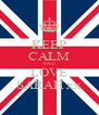 KEEP CALM AND LOVE SARAH xx - Personalised Poster A4 size