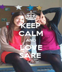 KEEP CALM AND LOVE SARE  - Personalised Poster A4 size